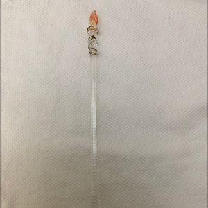 🦋4/$20 Princess House Glass Swizzle Stick Stirrer